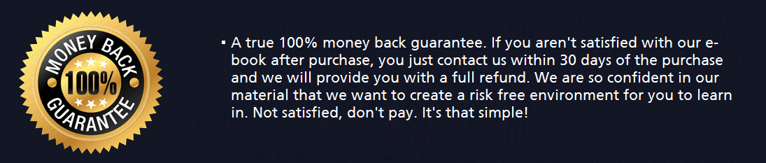 100 money back guarantee ebook